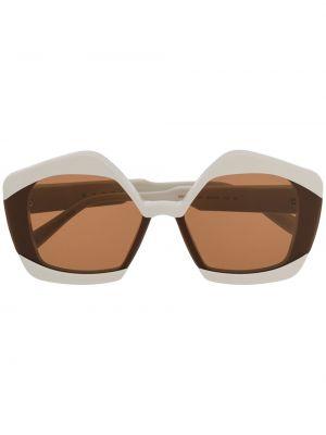 Прямые муслиновые солнцезащитные очки хаки Marni Eyewear