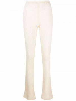 Białe spodnie wełniane Ottolinger