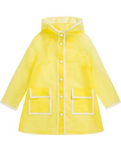 Желтая куртка с карманами с заклепками Bonpoint