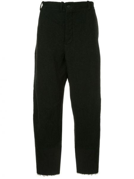 Черные укороченные брюки свободного кроя пэчворк на пуговицах Forme D'expression