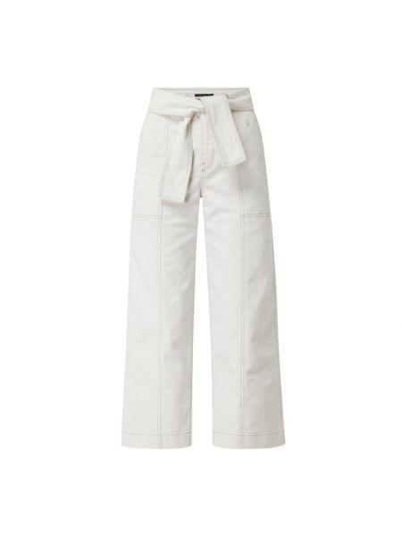 Białe spodnie bawełniane Marc Cain