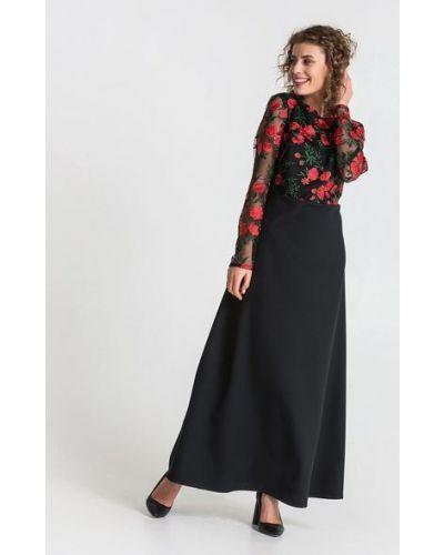 Черное гипюровое платье на торжество Vovk