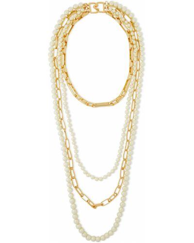 Ожерелье с жемчугом золотое Kenneth Jay Lane