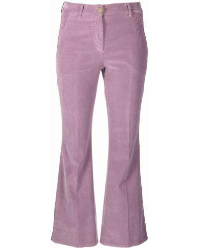 Укороченные брюки - фиолетовые Incotex