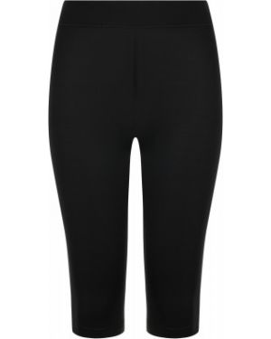Облегающие кожаные спортивные черные брюки Demix