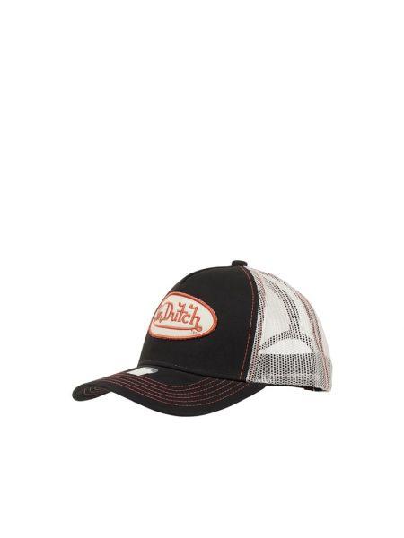 Bawełna bawełna czarny czapka baseballowa Von Dutch