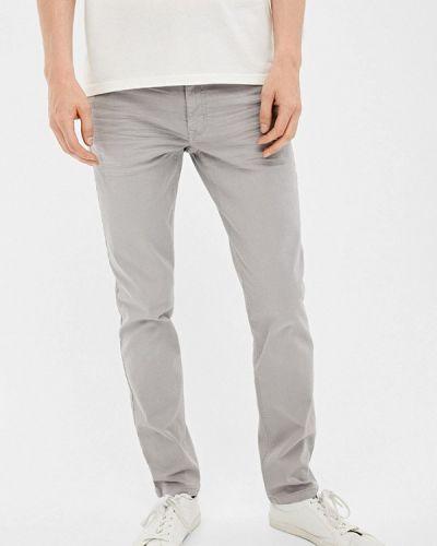 Зауженные брюки серые Springfield