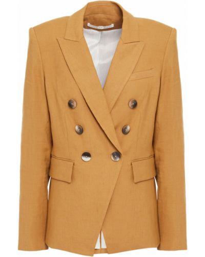 Льняной пиджак двубортный с подкладкой Veronica Beard