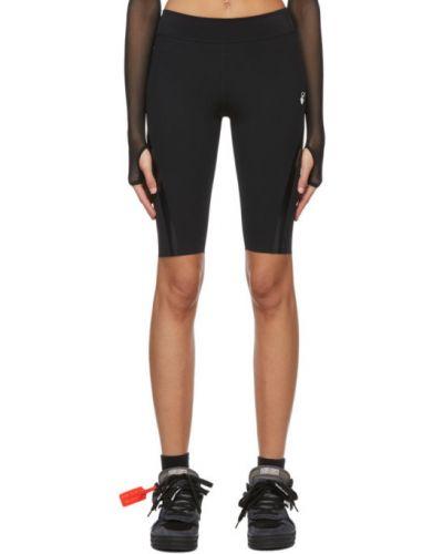 Трикотажные черные спортивные шорты стрейч Off-white