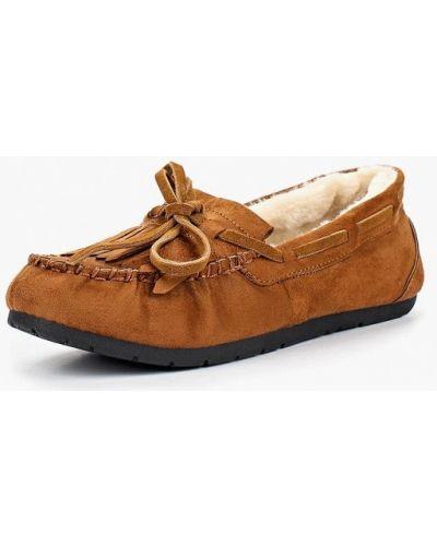 Коричневые мокасины замшевые Ideal Shoes