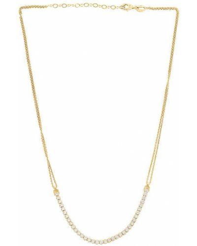 Złoty naszyjnik - biały Aleyole
