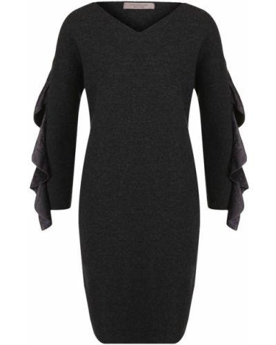 Платье мини с оборками шерстяное D.exterior
