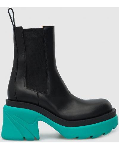 Кожаные ботинки челси - черные Bottega Veneta