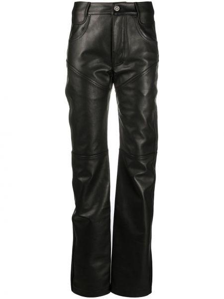 Классические прямые черные классические брюки с поясом Telfar
