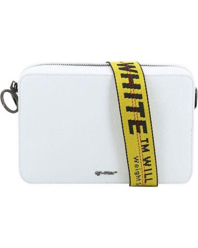 Кожаная сумка поясная маленькая Off-white