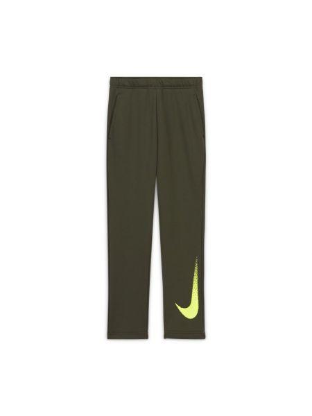 Zielone spodnie dzianinowe Nike