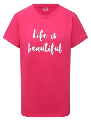 Розовая хлопковая футболка Seven Lab