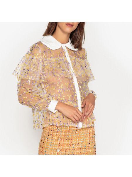 Рубашка с длинным рукавом с вышивкой с цветочным принтом Sister Jane