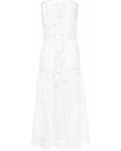 Хлопковое платье миди - белое Melissa Odabash
