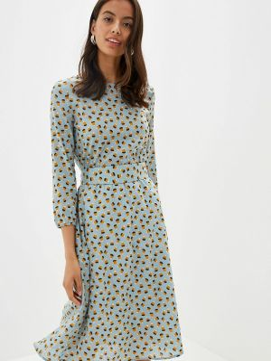 Платье бирюзовый прямое Po Pogode