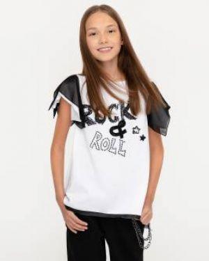 Футболка белая черная Gulliver Wear