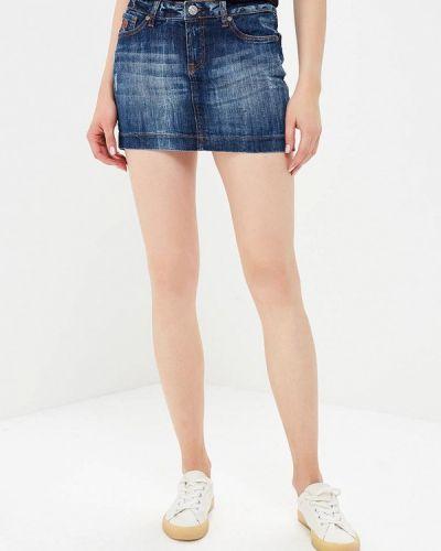 Синяя джинсовая юбка Rifle