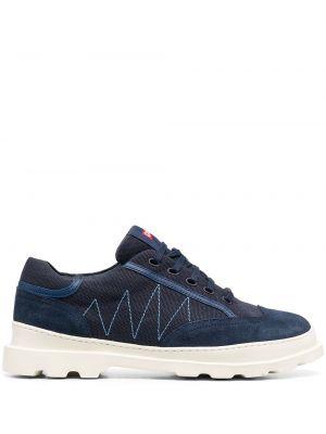 Синие кроссовки на шнуровке со вставками Camper