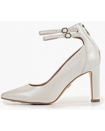 Туфли на каблуке кожаные белый Heart & Sole By Tamaris