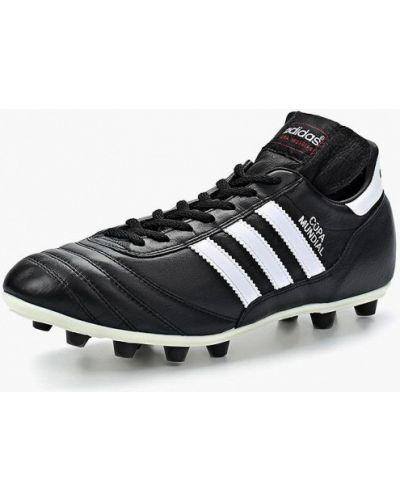 Бутсы кожаный черный Adidas
