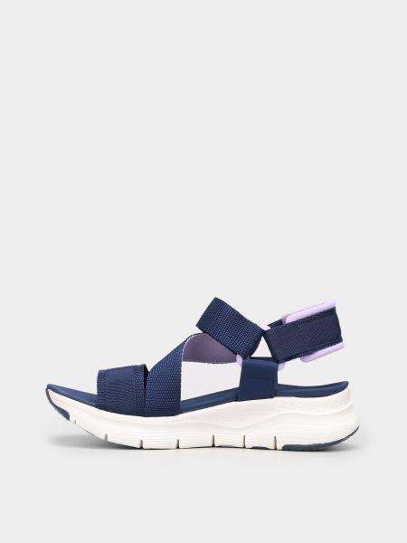 Синие сандалии Skechers