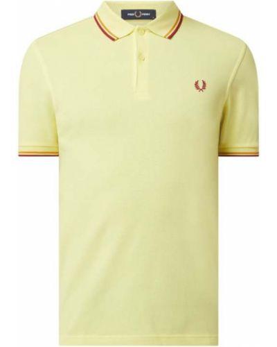 Żółty t-shirt bawełniany Fred Perry