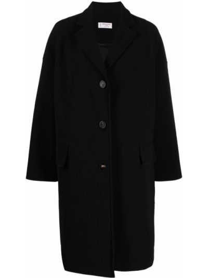 Черное пальто длинное Alberto Biani