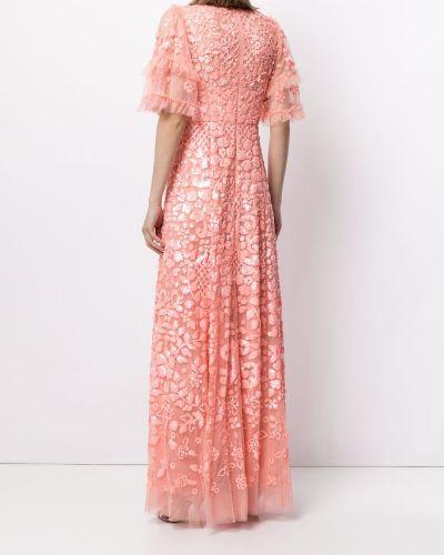 Платье мини короткое - розовое Needle & Thread