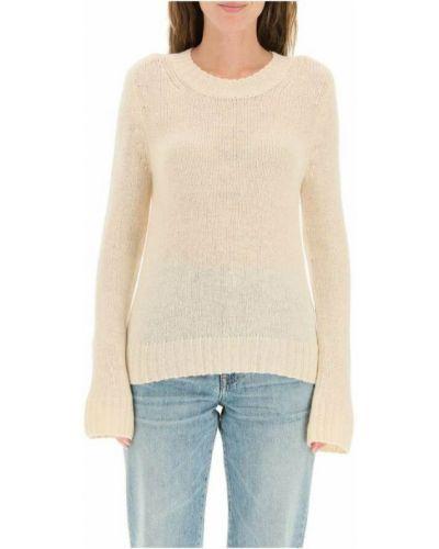Beżowy z kaszmiru sweter Khaite