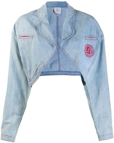 Синяя джинсовая куртка с вышивкой Fendi Pre-owned