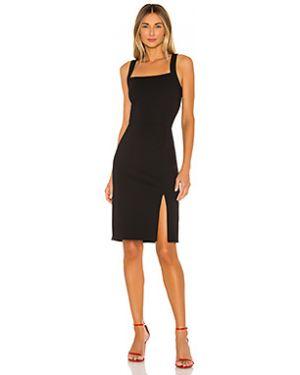 Черное шелковое платье миди на молнии Cupcakes And Cashmere