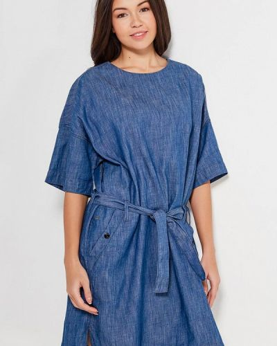 Джинсовое платье весеннее синее G-star