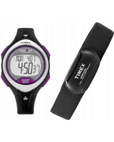 Czarny zegarek do biegania sportowy Timex