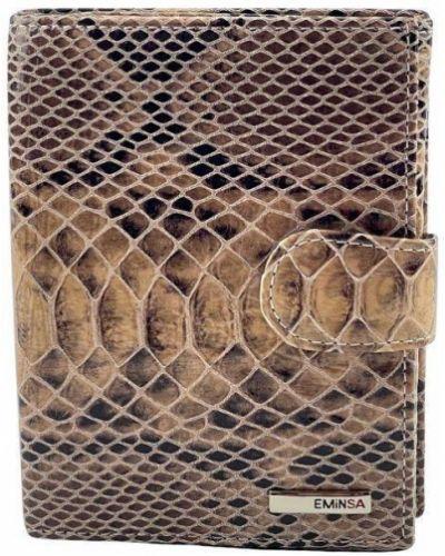 Кожаный кошелек - коричневый Eminsa