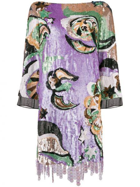 Шелковое розовое вечернее платье винтажное Emilio Pucci