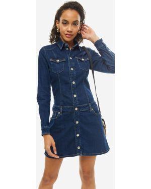 Платье мини джинсовое с длинными рукавами Pepe Jeans