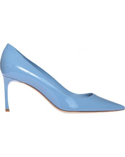 Кожаные туфли - голубые Christian Dior