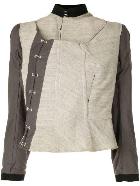 Шерстяная коричневая куртка с воротником Comme Des Garçons Pre-owned