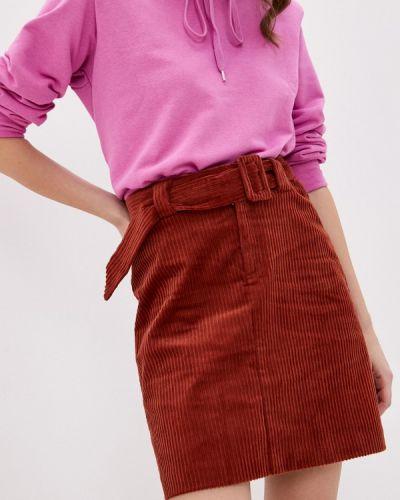 Коричневая прямая юбка карандаш Ichi