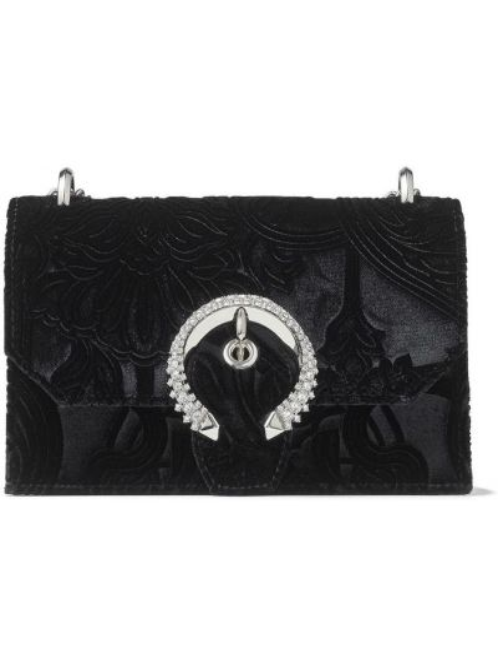 С ремешком кожаный черный сумка на цепочке Jimmy Choo