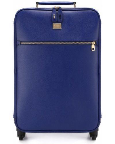 Чемодан дорожный синий Dolce & Gabbana