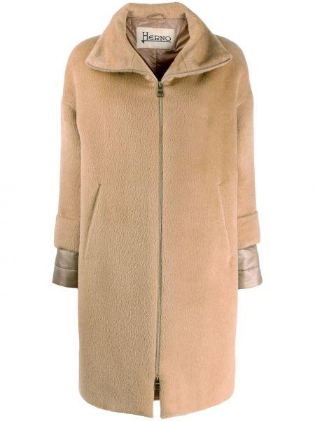 Свободная куртка с капюшоном мятная с подкладкой свободного кроя Herno