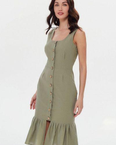Прямое зеленое платье Masha Mart