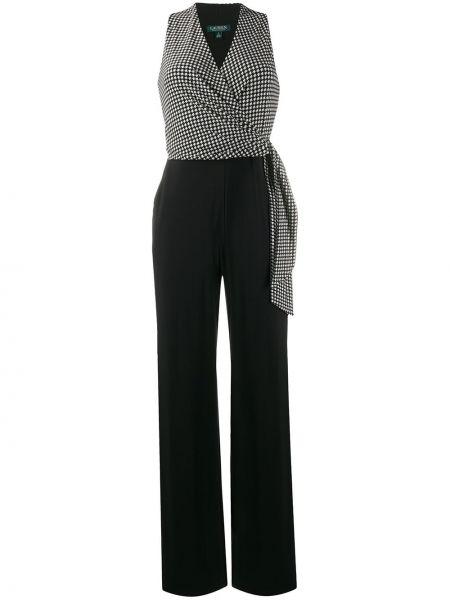 Комбинезон с широкими брюками черный Lauren Ralph Lauren