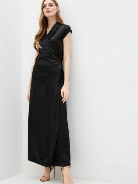 Черное платье с запахом Alessandro Dell'acqua